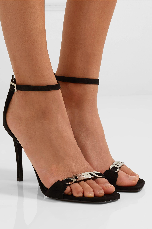 Balmain Natalya logo-embellished suede sandals