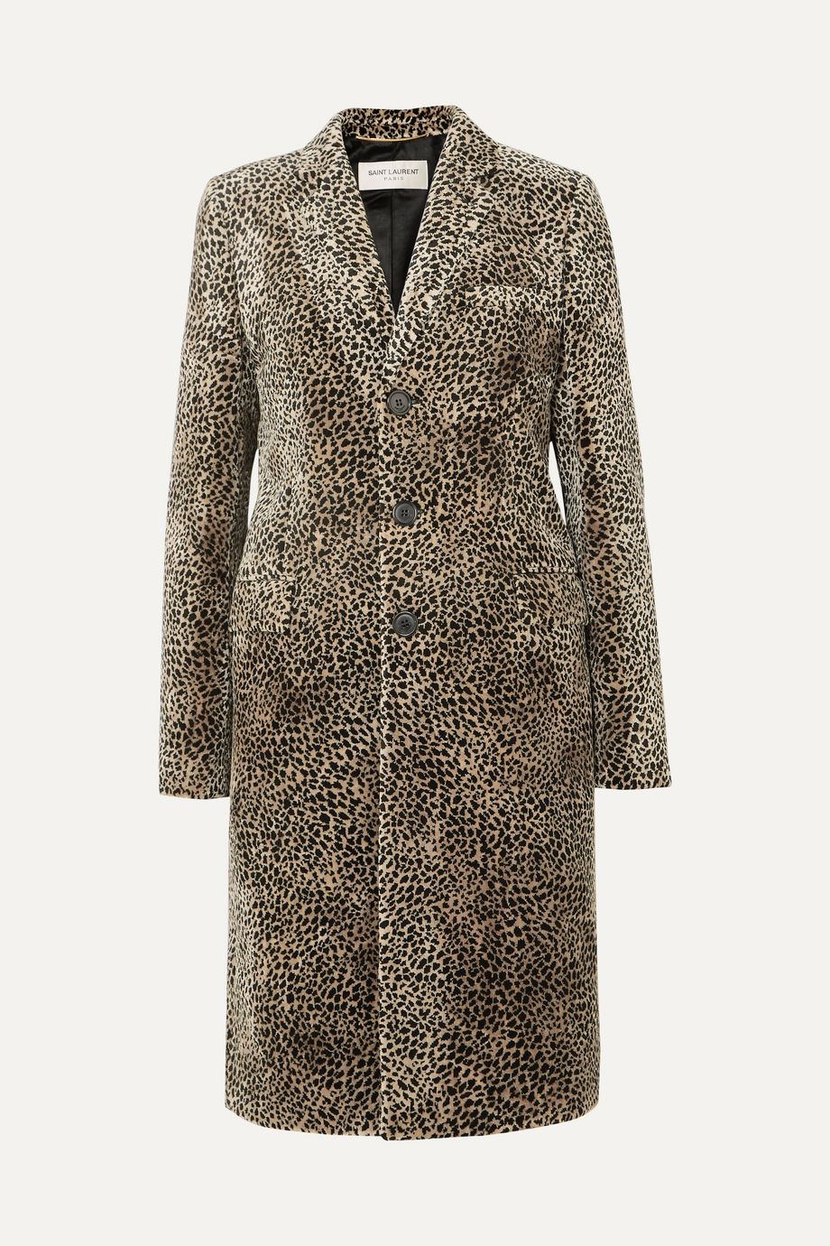 SAINT LAURENT Leopard-print jacquard coat