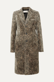 SAINT LAURENT Leopard-print jacquard coat