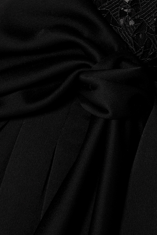 SAINT LAURENT Playsuit aus besticktem Tüll und Seidensatin