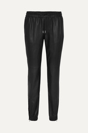 SAINT LAURENT Tapered leather pants