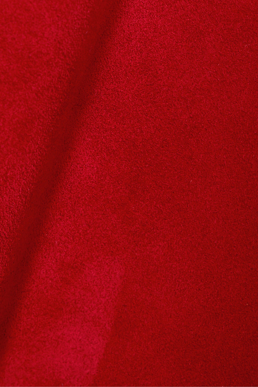 SAINT LAURENT Suede mini skirt