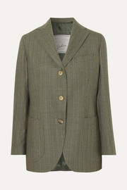 Giuliva Heritage Collection Andrea pinstriped wool blazer