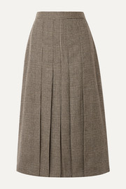Giuliva Heritage Collection The Verena pleated Prince of Wales checked merino wool skirt