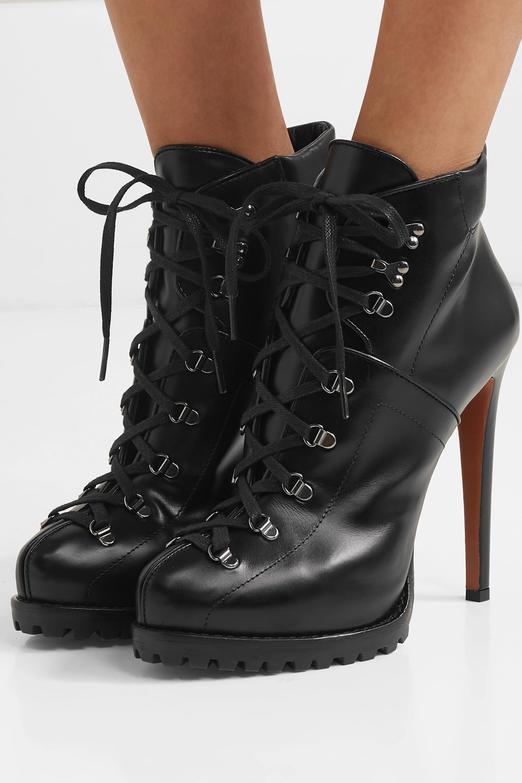 Alaïa 130 leather ankle boots