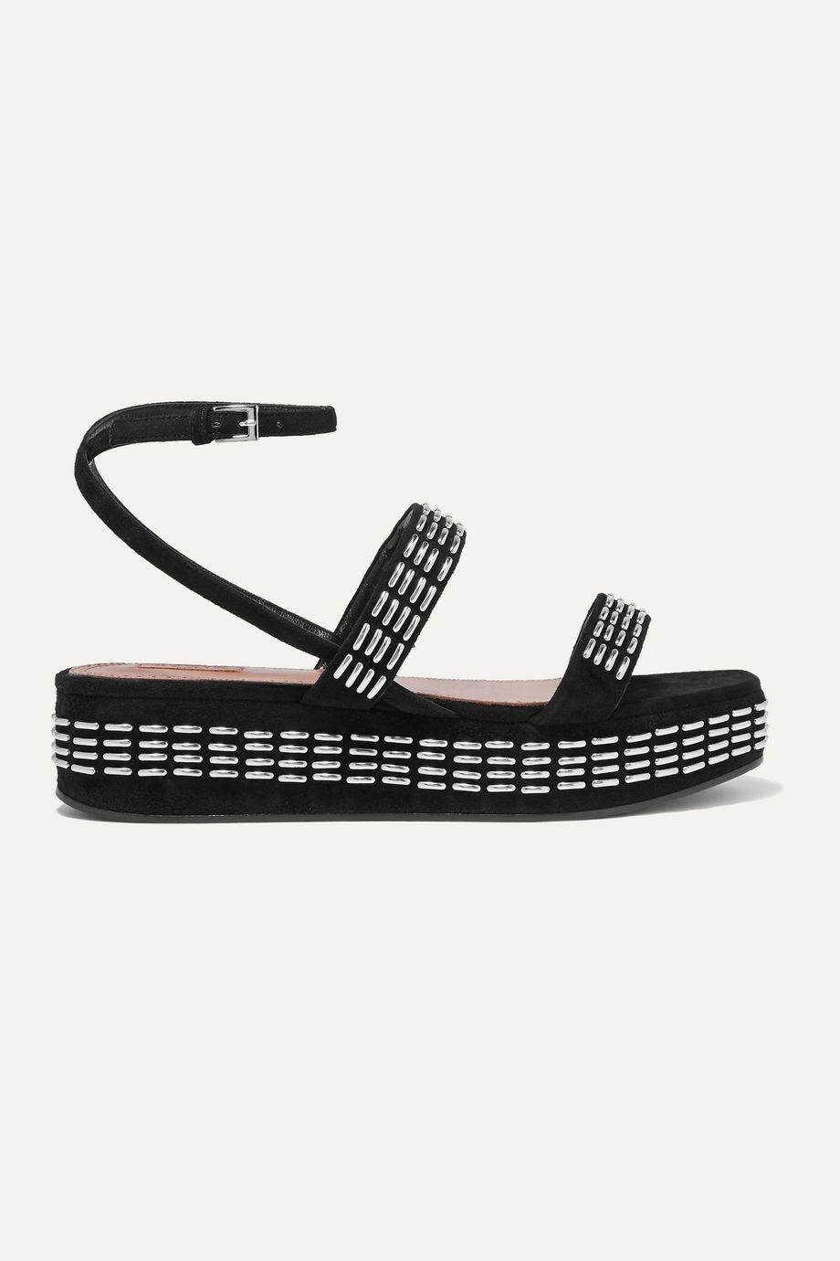 Alaïa 45 studded suede platform sandals
