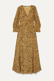 The Front leopard-print silk-crepe maxi dress