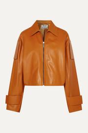 아크네 스튜디오 Acne Studios Lozoa cropped leather jacket