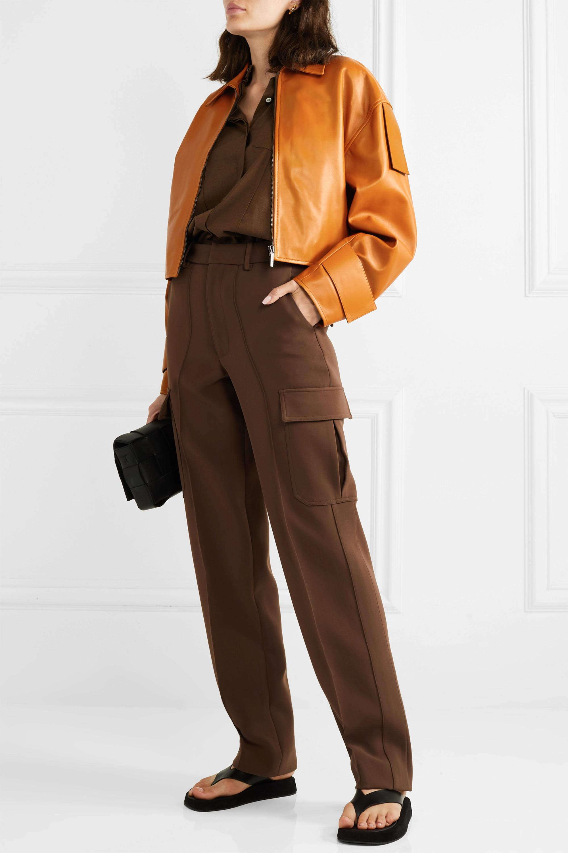 Acne Studios Lozoa cropped leather jacket