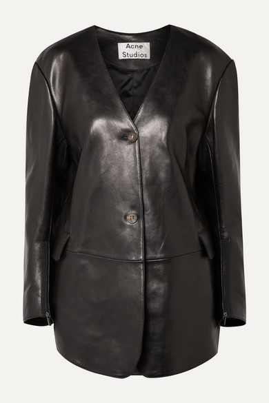 8a1e23061 Lexa oversized leather jacket