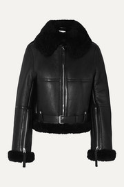 Acne Studios Raf leather-trimmed shearling jacket
