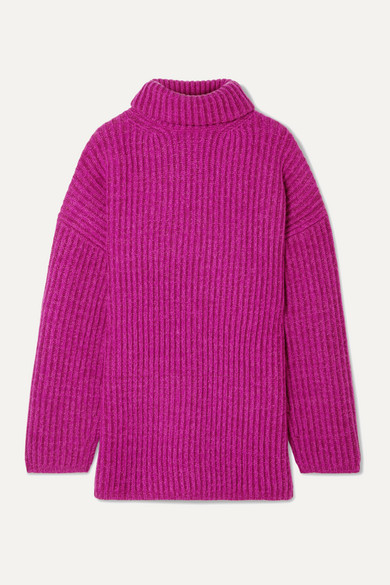 Melange Wool Turtle Neck Knit