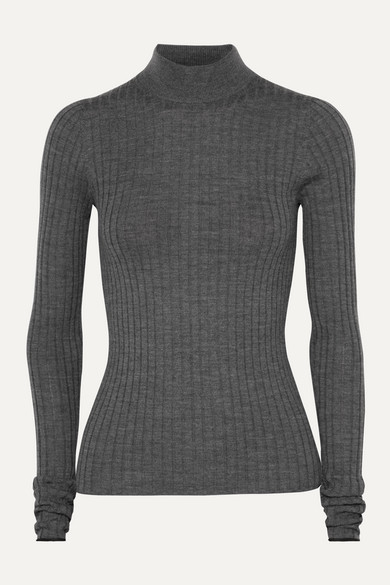Kulia Ribbed Merino Wool Turtleneck Sweater by Acne Studios