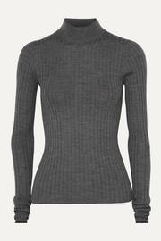 아크네 스튜디오 Acne Studios Kulia ribbed merino wool turtleneck sweater
