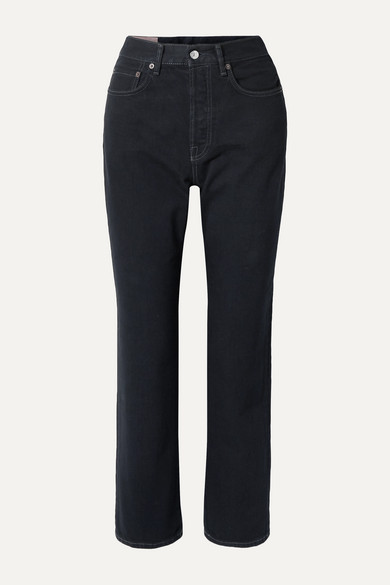Mece cropped high-rise straight-leg jeans