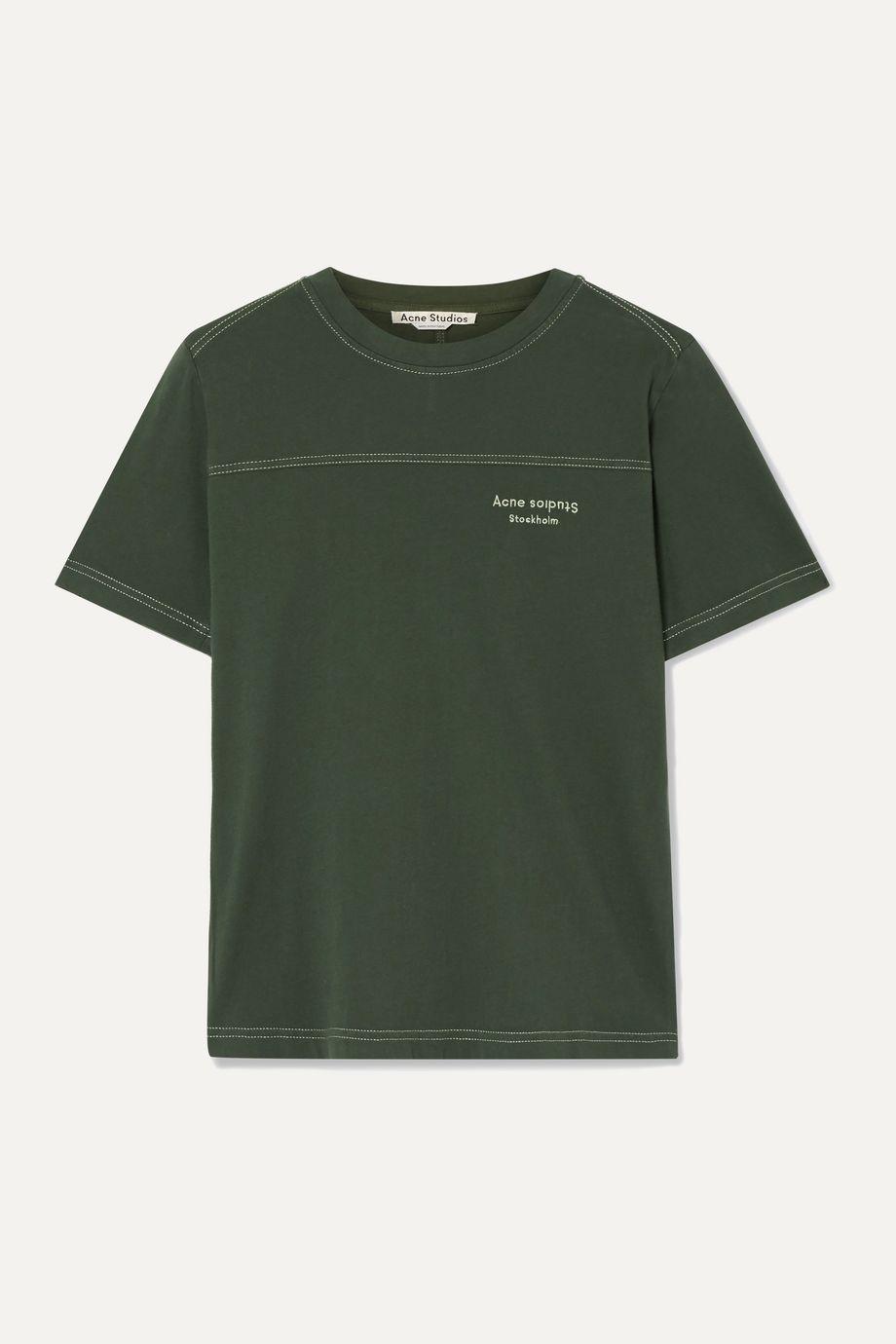 Acne Studios Ewanda embroidered cotton-jersey T-shirt