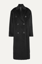 Acne Studios Octania oversized double-breasted alpaca and wool-blend coat