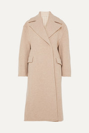 Olaia double-breasted mélange wool-blend coat