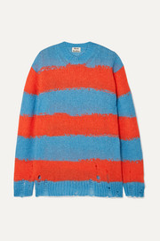 Acne Studios Kantonia distressed striped knitted sweater