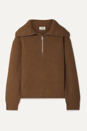 아크네 스튜디오 Acne Studios Kelanie ribbed wool-blend sweater