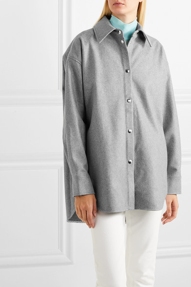 Sarwin Oversized Wool Blend Flannel Shirt by Acne Studios