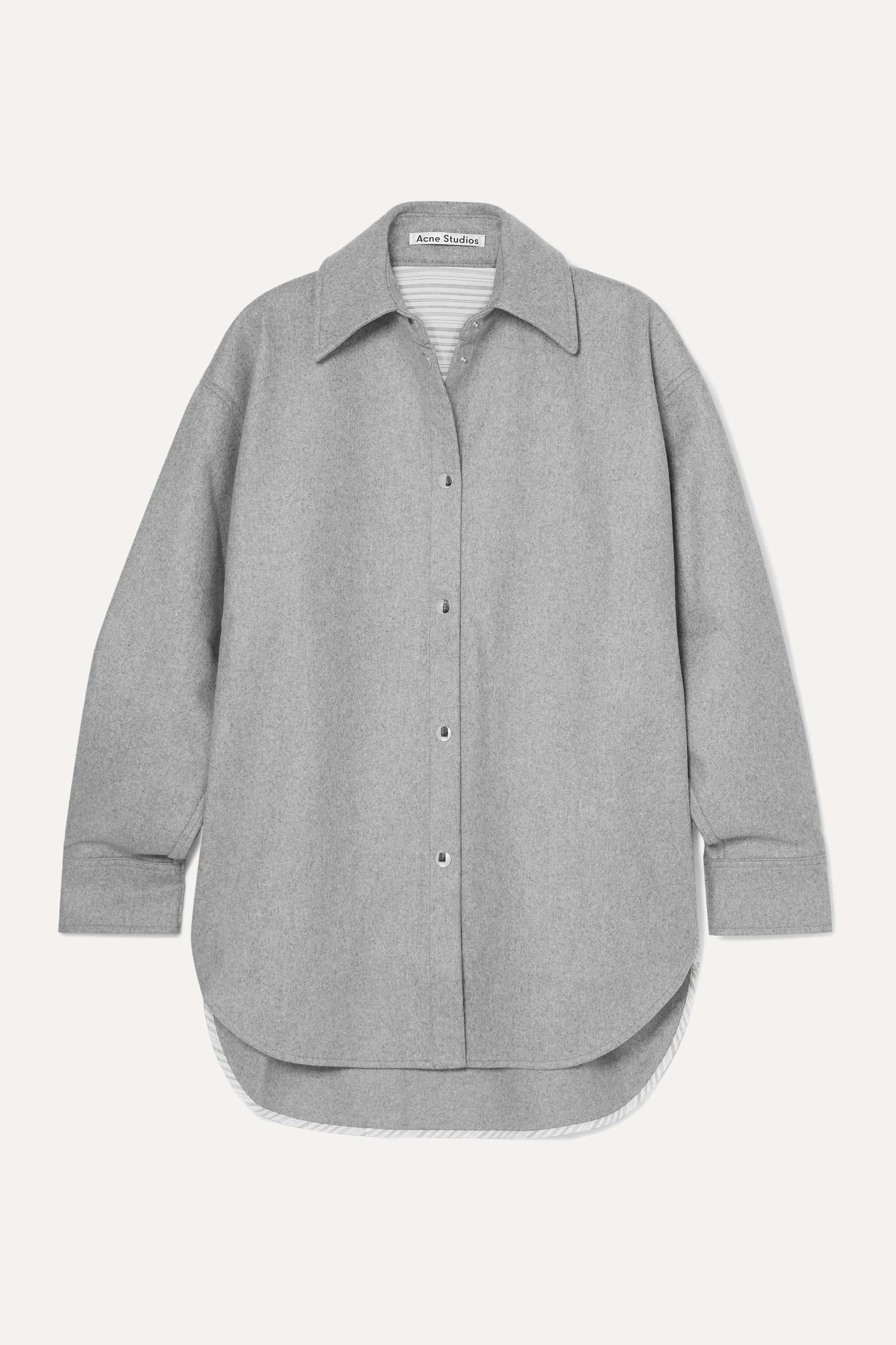 Acne Studios Sarwin oversized wool-blend flannel shirt