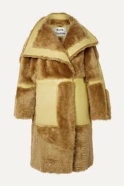 아크네 스튜디오 Acne Studios Luelle oversized paneled shearling and leather coat