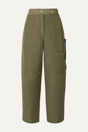 Peganne coated-canvas straight-leg pants