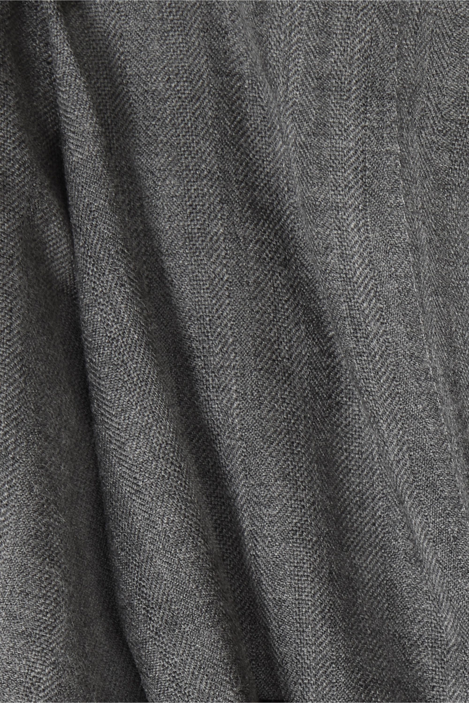 Acne Studios Peggerine pleated herringbone wool tapered pants