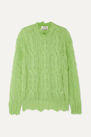 Acne Studios Kelenal frayed cable-knit sweater