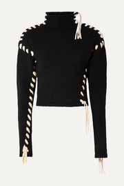 Acne Studios Kerri whipstitched wool turtleneck sweater