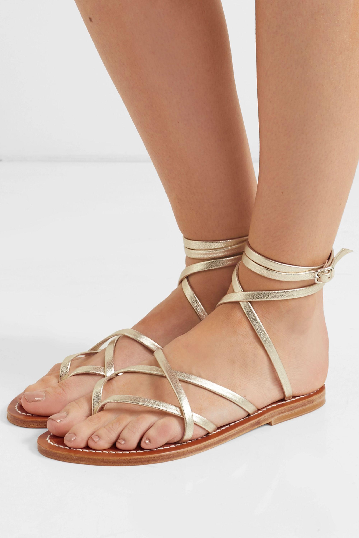 Gold Zenobie leather sandals | K