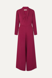 The Tina wrap-effect crepe jumpsuit