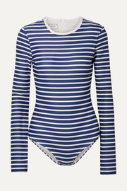 Cover Striped swimsuit