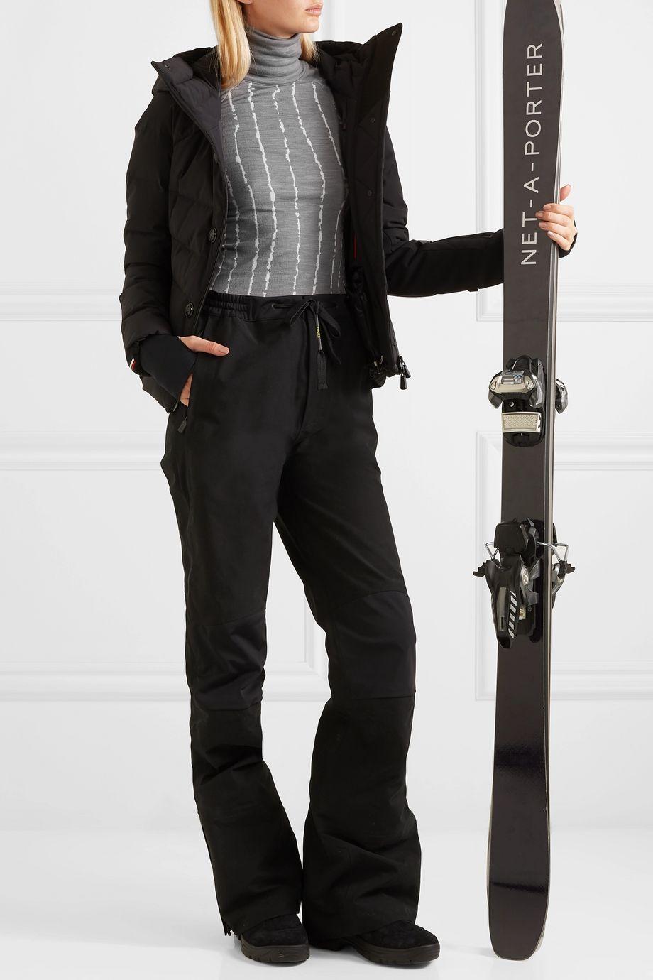 FALKE Ergonomic Sport System Rollkragenoberteil aus einer Wollmischung mit Streifen
