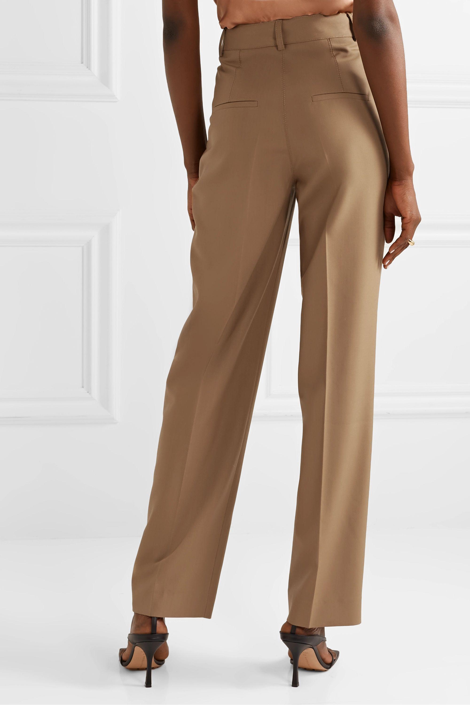 CASASOLA Pleated grain de poudre wool straight-leg pants