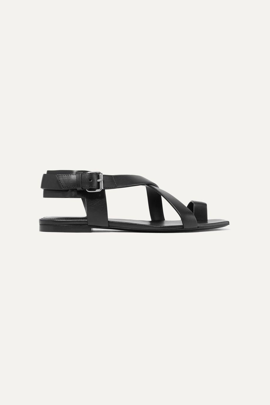 SAINT LAURENT Hiandra leather sandals