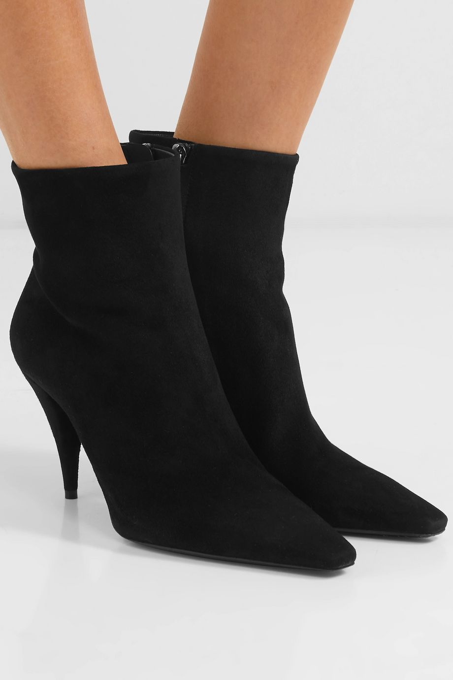 SAINT LAURENT Kiki suede ankle boots