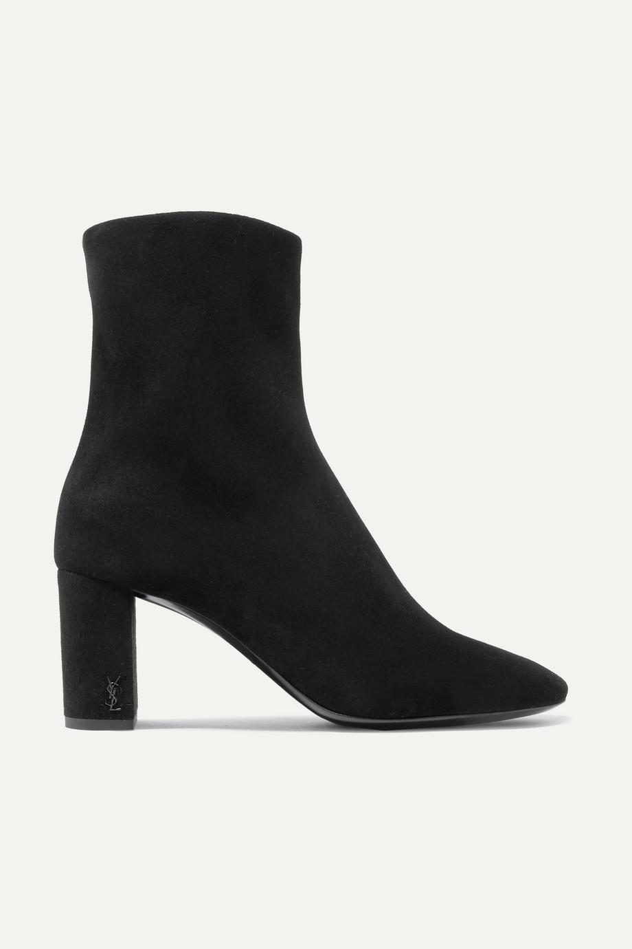 SAINT LAURENT Lou suede ankle boots