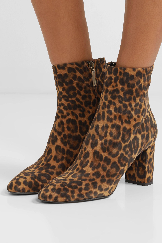 Lou leopard-print suede ankle boots