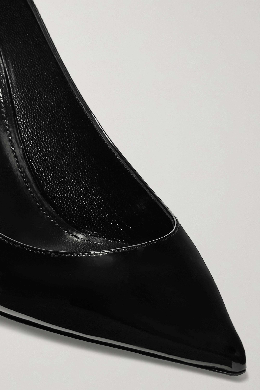 SAINT LAURENT Zoe patent-leather pumps