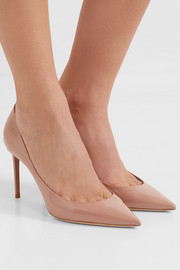 Zoe patent-leather pumps