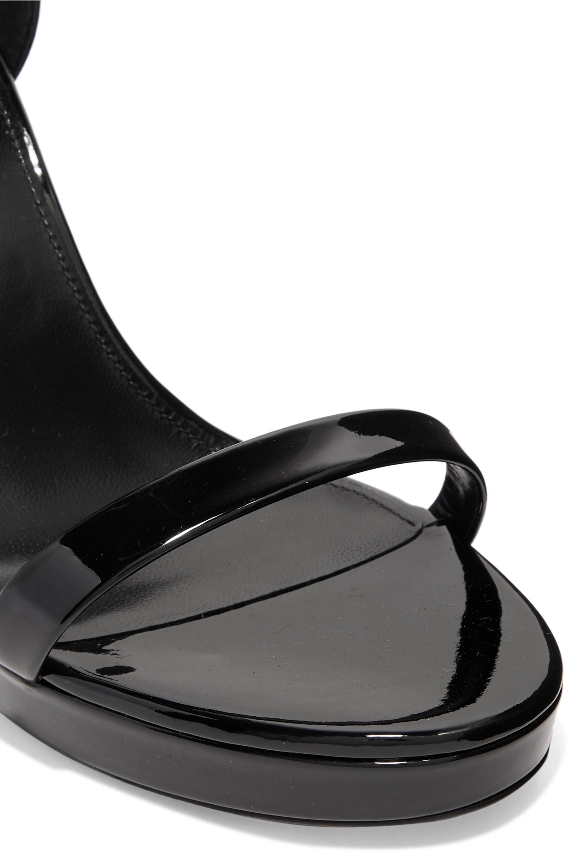 SAINT LAURENT Hall patent-leather platform sandals