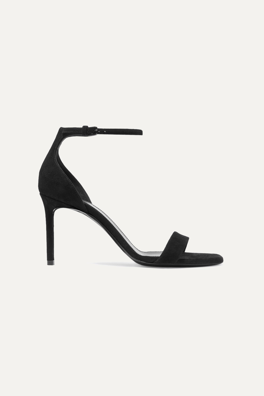 Black Amber suede sandals | SAINT