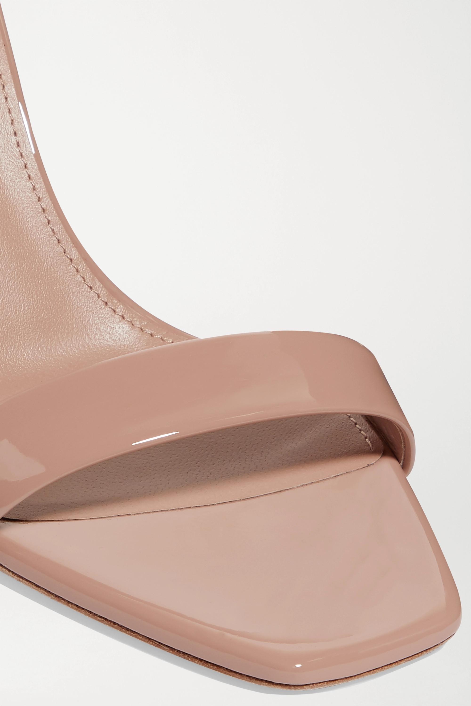 SAINT LAURENT Sandales en cuir verni Amber