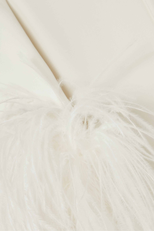 Elie Saab Feather-trimmed cady jacket