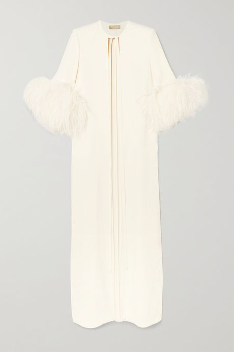 White Feather-trimmed cady jacket   Elie Saab kyoIw1