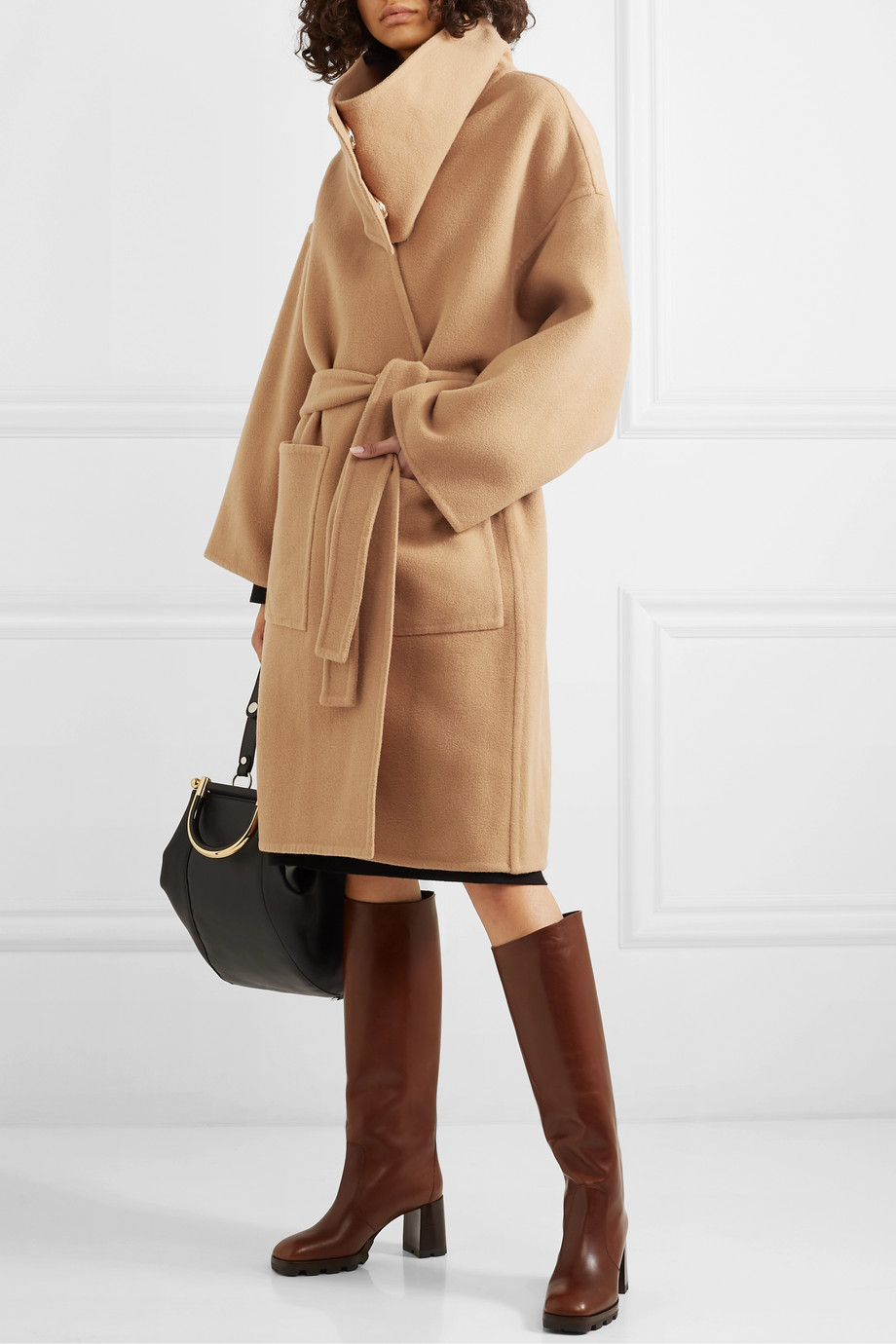 JW Anderson Belted wool and cashmere-blend coat