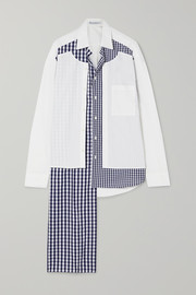 JW Anderson Asymmetric paneled cotton-poplin shirt