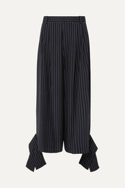 JW Anderson Convertible pinstriped wool-blend pants
